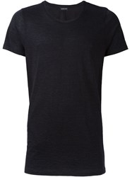 Exemplaire Fitted Classic T Shirt Blue