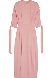 Emilia Wickstead Nina Silk Cloque Midi Dress Pink