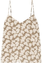 Equipment Layla Printed Washed Silk Camisole Mushroom