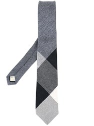 Burberry Ribbed Detailing Tie Grey