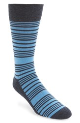 Nordstrom Men's Shop Men's Nordstrom Stripe Socks Blue 3 For 30 Navy Heather
