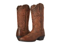 Ariat Round Up R Toe Dark Toffee Cowboy Boots Brown