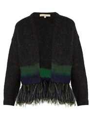 Vanessa Bruno Five Feather Embellished Cardigan Navy