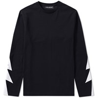 Neil Barrett Long Sleeve Bolt Tee Black