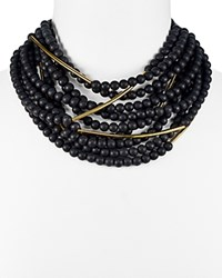 Fairchild Baldwin Mini Bella Multi Strand Beaded Necklace 16 Matte Black