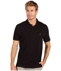 John Varvatos Slub S S Peace Polo K1381n2b Black Men's Short Sleeve Knit