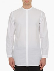 Helmut Lang White Longline Cotton Shirt