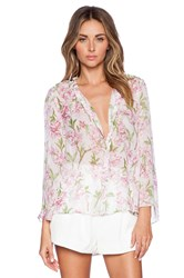 Marchesa Voyage Bell Sleeve Blouse White