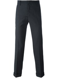 Emporio Armani Slim Tailored Trousers Grey