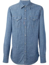 Dsquared2 'Western' Shirt Blue