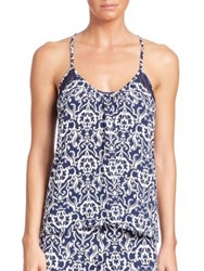 In Bloom Costa Camisole Ivory Navy