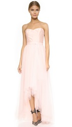 Monique Lhuillier Bridesmaids Strapless Dress With Removable Skirt Blush