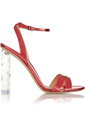 Gianvito Rossi Mirrored Leather Sandals Pink