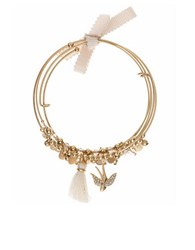 Lonna And Lilly Bird Accented Beaded Coil Bracelet Gold
