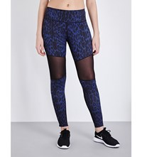 Varley Sycamore Jersey Leggings Purple Leopard