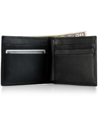 Polo Ralph Lauren Accessories Burnished Leather Billfold Wallet Black