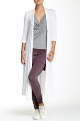 Riller And Fount Iggy Long Sleeve Long Cardigan White