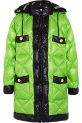 Moschino Quilted Shell Coat Bright Green