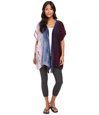 Hard Tail Easy Wrap Cardigan Vertical Rainbow Women's Sweater Multi