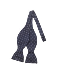 Forzieri Small Dot Woven Silk Self Tie Bowtie Blue