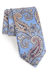 J.Z. Richards Men's Paisley Silk Tie Blue
