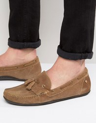 Frank Wright Nevis Loafers In Tan Suede Tan