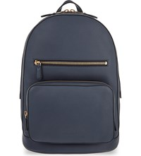 Burberry Marden Leather Backpack Dark Pewter Blue