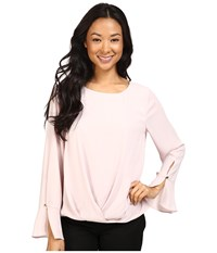 Vince Camuto Flutter Cuff Fold Over Blouse Hush Pink Women's Blouse