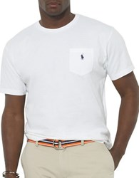 Polo Big And Tall Classic Fit Pocket Crewneck Tee White