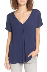 Lush Women's V Neck Swing Tee Estate Blue