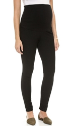 Plush Maternity Leggings Black