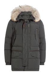 Parajumpers Down Jacket With Fur Trimmed Hood Gr. L