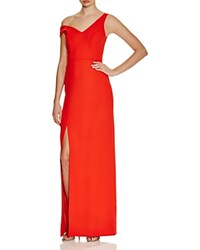Abs By Allen Schwartz One Side Off The Shoulder Gown Flame