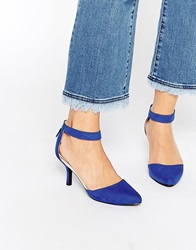 Oasis Blue Two Part Court Shoes