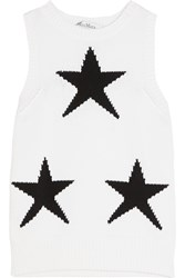 Max Mara Star Intarsia Cotton Blend Tank White