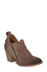Jeffrey Campbell Women's Burman Split Shaft Bootie Taupe Oiled Suede