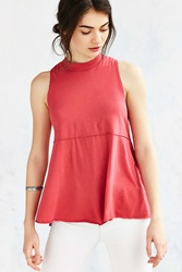 Truly Madly Deeply Mock Neck Babydoll Tank Top Pink