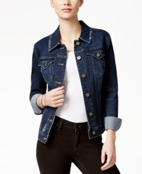 Styleandco. Style And Co. Distressed Field Wash Denim Jacket Only At Macy's