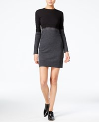 Armani Exchange Colorblocked Bodycon Dress Black