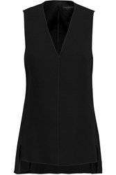 Rag And Bone Fernanda Cutout Back Crepe Top Black