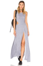 Lanston Crossover Cutout Maxi Dress Grey