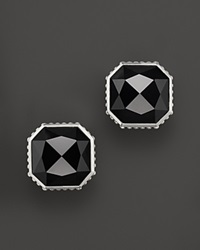 Lagos Sterling Silver Color Rocks And Black Onyx Earrings Silver Black