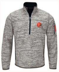 G3 Sports Men's Cleveland Browns Fast Pace Quarter Zip Pullover Gray Black