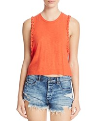 Michelle By Comune Braided Cuff Tank Tomato