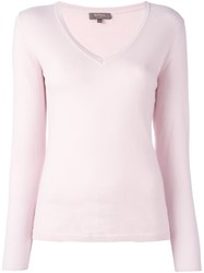 N.Peal V Neck Pullover Pink And Purple
