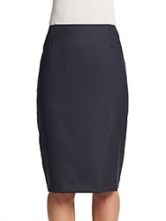 Hugo Boss Venola Pencil Skirt Navy Blue