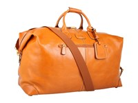 Bric's Milano Life Leather 22 Duffel Cognac Leather Luggage Brown