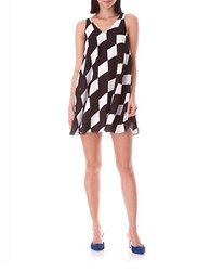 Sam Edelman Colorblock Trapeze Dress Black