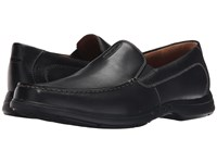 Clarks Un.Easley Twin Black Leather Men's Slip On Shoes