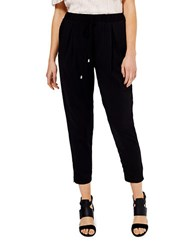 Miss Selfridge Cropped Jogger Pants Black